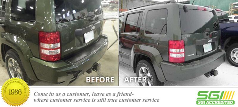 Jeep Rear Bumper Fix